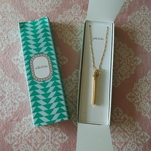 Stella & Dot Gold Rebel Pendant Necklace NWT
